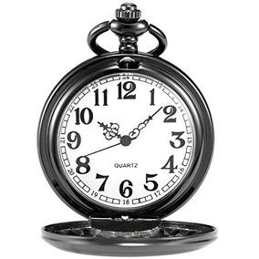 Relojes De Bolsillocadena Ampm24 Negro Para Hombre De La ..