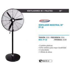 Ventilador De Pie Industrial 30 Embassy 3 Aspas Base Metal