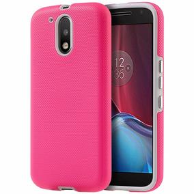 Funda Case Moto G4 Plus Doble Protector Rosa *envio Gratis*