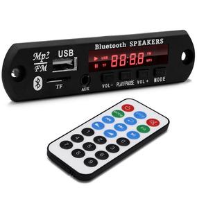 Placa Mp3 Player Usb Tf Fm Aux Cx Amplificadas 12v Bluetooth