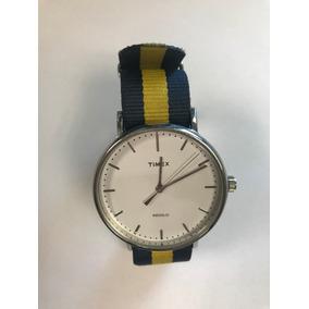 87a399c9d95f Reloj Timex Azul Amarillo - Reloj para Hombre en Mercado Libre México