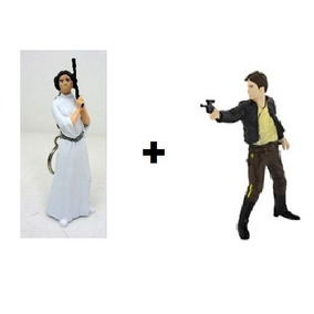 Chaveiro Star Wars - Han Solo + Princesa Leia - Multikids