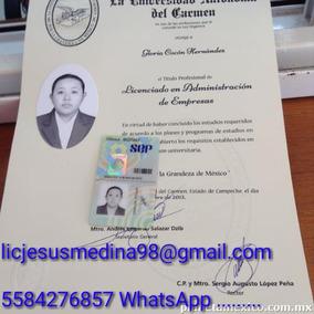 Certificado Preparatoria Titulo Y Cedula Profesional Univers