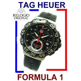 d7df1fa47d1 Belo Tag Heuer Suíço Chrono Formula 1 Modelo Ref.  Cah1110