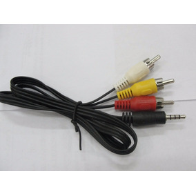 Cable Auxiliar De Audio Y Vídeo Plug 3.5 Mm A 3 Rca Macho