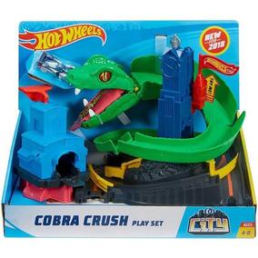 Pista Cobra Hot Wheels City Ataque De Cobra Mattel Oficial