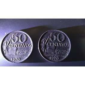 Moeda 50 Centavos 1970 Reverso Invertido