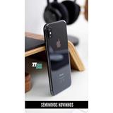 Iphone X 256gb Cinza Espacial Seminovo Novinho + Brindes