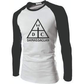 602f2aecf8030 Camiseta Raglan Manga Longa Damassaclan Rap Dmc Raglan Top
