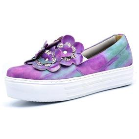 Sapatênis Slip On Rpr Shoes Flower
