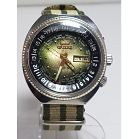 b38d0c22e04 Orient World Diver Calibre 46941 Dial Verde Pulseira Nato