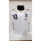 4cb07aedb0 Camisa Itália Away 07-09 Manga Longa Totti 10 Importada
