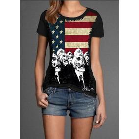 843c8e165c Camiseta Com Bandeira Dos Estados Unidos Com Caveira - Calçados ...