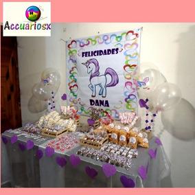 Mesa De Dulces 100 Personas, Dulces Y Lona Personalizada