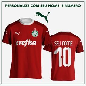 5dcb8271a0 Camisa Nova Do Palmeiras Puma Vermelha Goleiro Personalizada