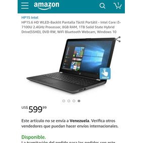 Laptop Hp Core I3 7ma Generación