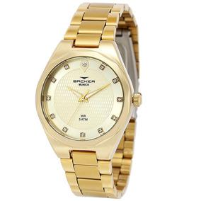 7760ac19985 Relógio Feminino Backer Analógico 12007145f - Dourado