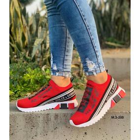 1d3b4b9fc2e97 Zapatos Deportivos Mujer Color Rojo - Ropa y Accesorios en Mercado ...