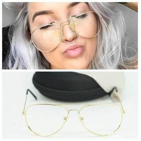 ae0af943a9955 Armacao Oculos Feminino Aviador Branco - Óculos De Sol no Mercado ...
