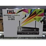 Jwl Microfone Profissional S/ Fio Uhf Dublo De Mão U585