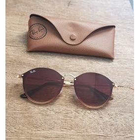 9e5ed0abebd1b Ray Ban Blaze Round Marrom - Óculos De Sol no Mercado Livre Brasil