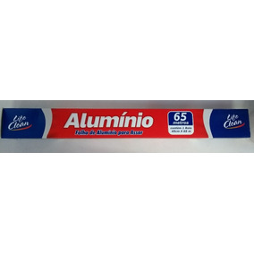 Papel Alumínio Contém 1 Rolo De 45cm X 65mts Life Clean
