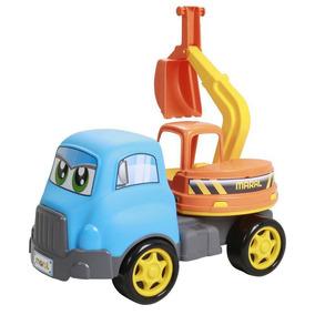 Brinquedo Carrinho Turbo Truck Escavadeira Maral 4135