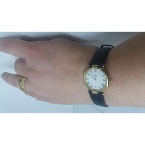 Relógio Fem. Pulso Christian Gior Paris Plaquê Ouro Swiss