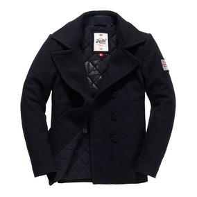 Abrigo Superdry Rookie Pea Coat Navy...