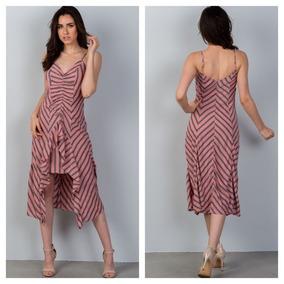 Vestido De Rayas Para Mujer