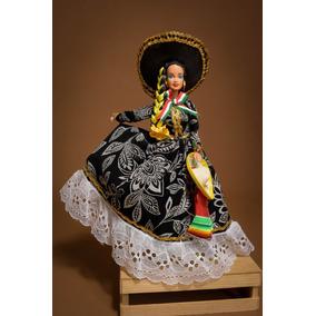 Muñeca Barbie Con Vestidos De Colección Típicos Mexicanos