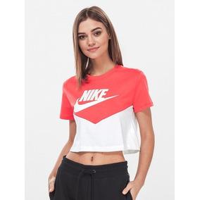 Playera Nike Heritage Blanco Coral Bonita Casual Dama Meses
