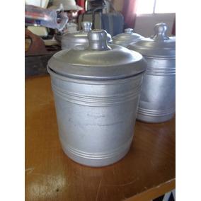 Antiguos Tarros De Aluminio Para Cocina