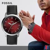 Reloj Fossil Fs5493 Minimalist Negro Rojo - Nuevo Original