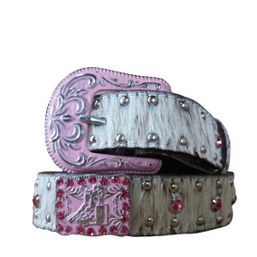 Cinto Infantil Country Couro Strass Rosa Arizona Belts 6010 2ac7166e86