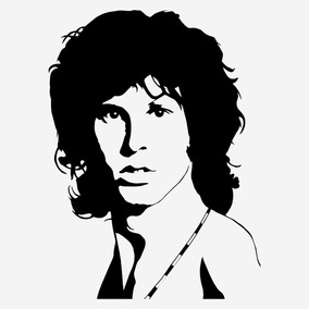 Kit 3x Adesivo Música Rock Jim Morrison The Doors 15cm A312