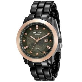 865b37b952a Relógio Feminino. Séculos Com Visor Preto - Relógios De Pulso no ...
