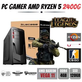 Computador Gamer Amd Ryzen 5 2400g 3.6ghz Ddr4 Ssd 120gb