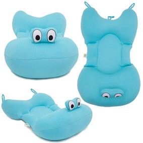 Almofada Para Banho De Bebe - Cor Azul - Original Baby Pil