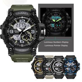 Relógio Masculino Militar Smael Digital E Analógico - Import