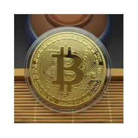10 Moeda Bitcoin Física Ouro Edição Comemorativa