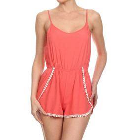L - Coral - Nuevo Verano Mujeres Señoras Pijama Fiesta -9050