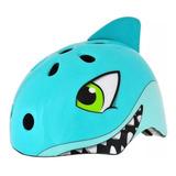 Capacete Infantil Bicicleta Tubarão Kidzamo S-216 Com Ajuste
