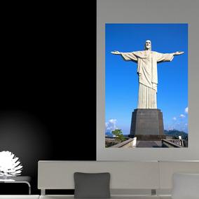 86d628bff44 Painel Adesivo De Parede - Cristo Redentor - N3162