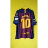 fa7d10bbb244f Camisa Barcelona Infantil Tamanho 10 Messi Azul E Preto - Camisas de ...