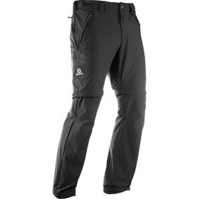Pantalon Masculino Salomon - Wayfarer Zip Pant M Negro - Hik