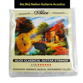 Cuerda Para Guitarra Acustica 4ta (re) De Nailon Alice