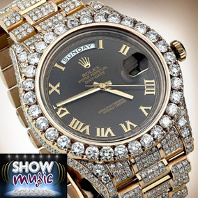 Rolex 41 In Solid 18kt Rose Gold Diamonds