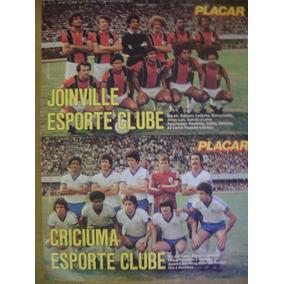 Poster Joinville E Criciúma 1980 Placar