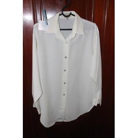 = Roupa Lote 627 Mulher Camisa Social Epysodio Branca Seda M